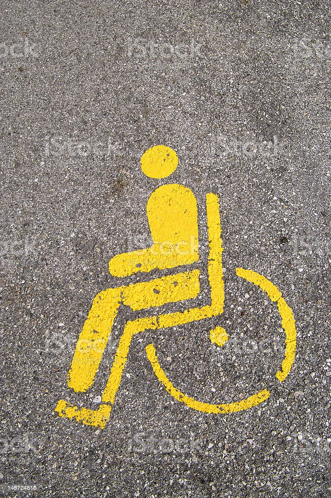 Wheelchair access symbol stock photo