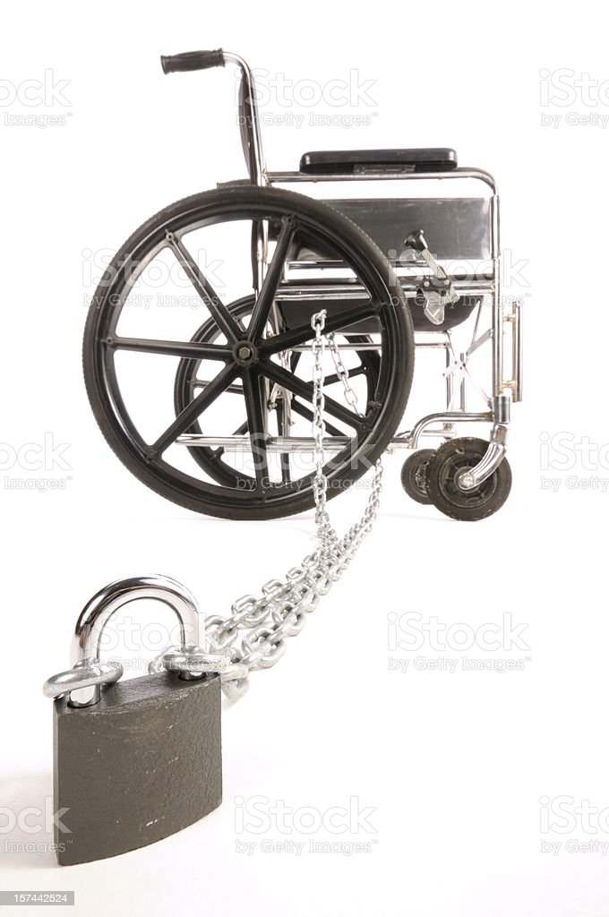 Wheelchair and Disability royalty-free stock photo