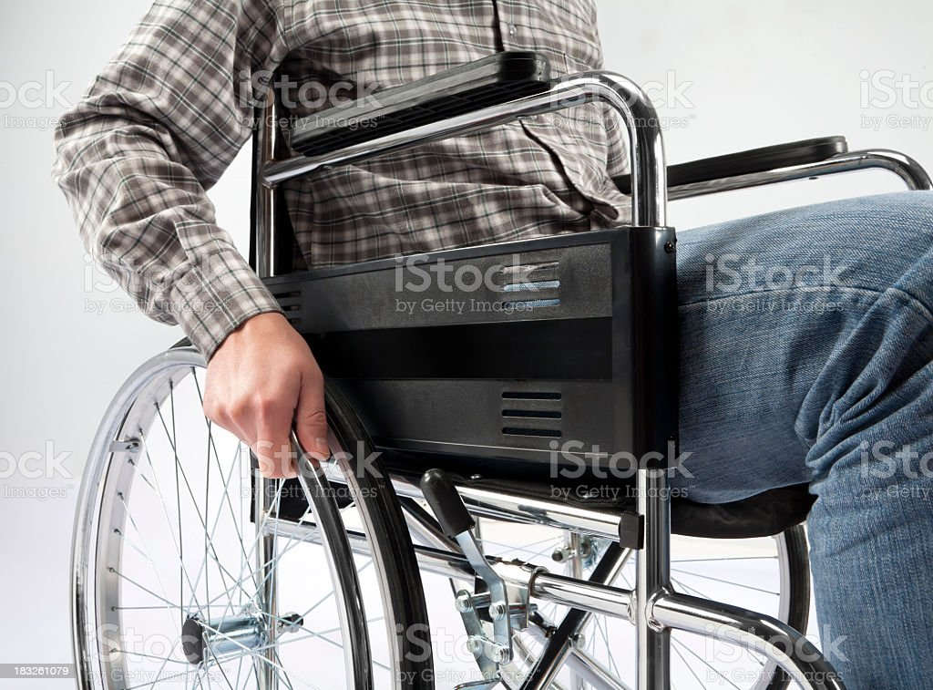 Wheelchair and Disabled royalty-free stock photo