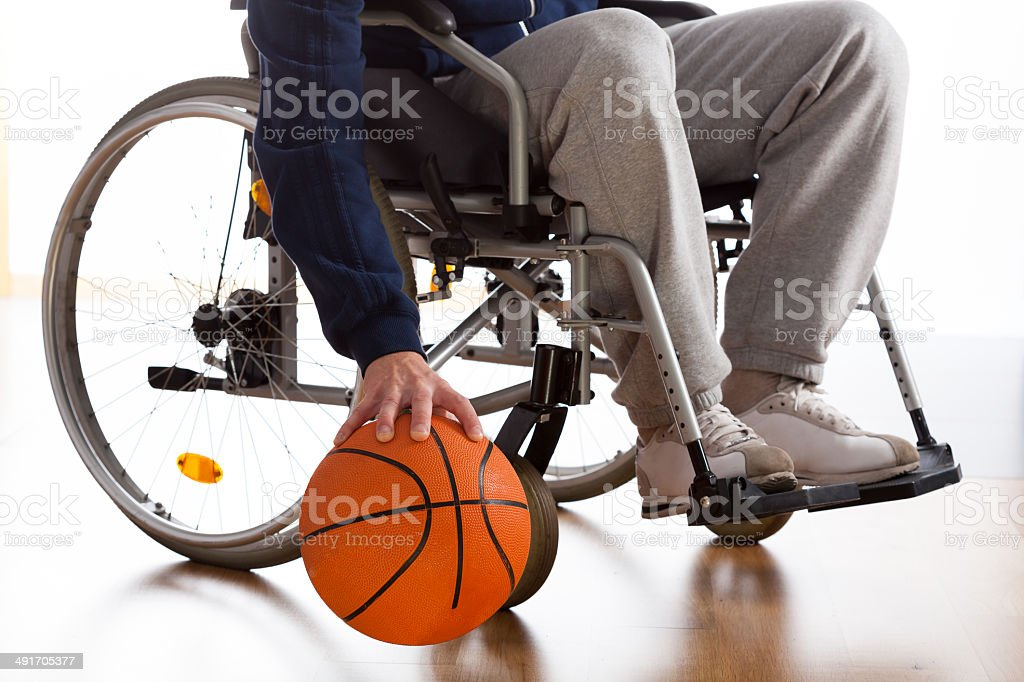 Wheelchair basketball player stock photo