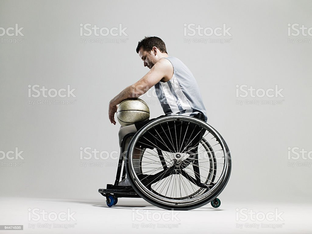 Wheelchair basketball player stock photo