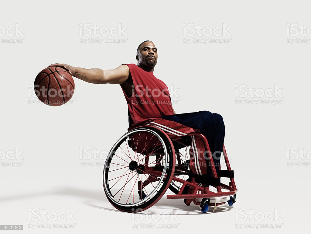 Wheelchair basketball player royalty-free stock photo