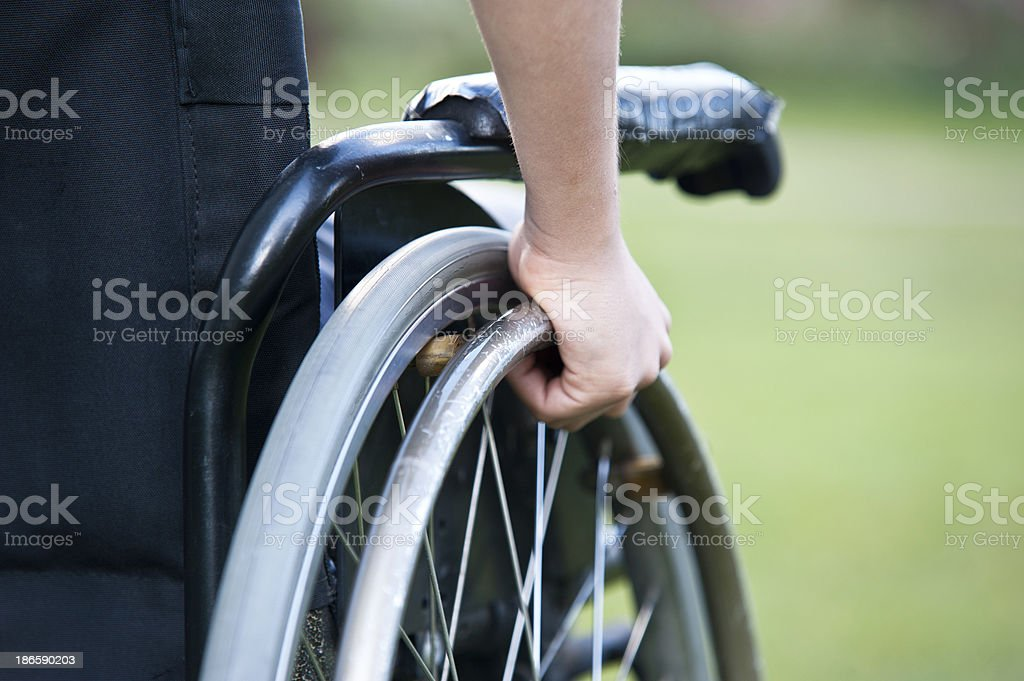Wheelchair close up royalty-free stock photo
