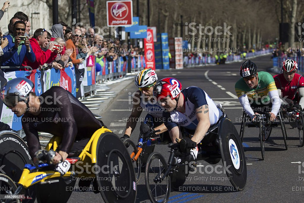 Wheelchair competitors royalty-free stock photo