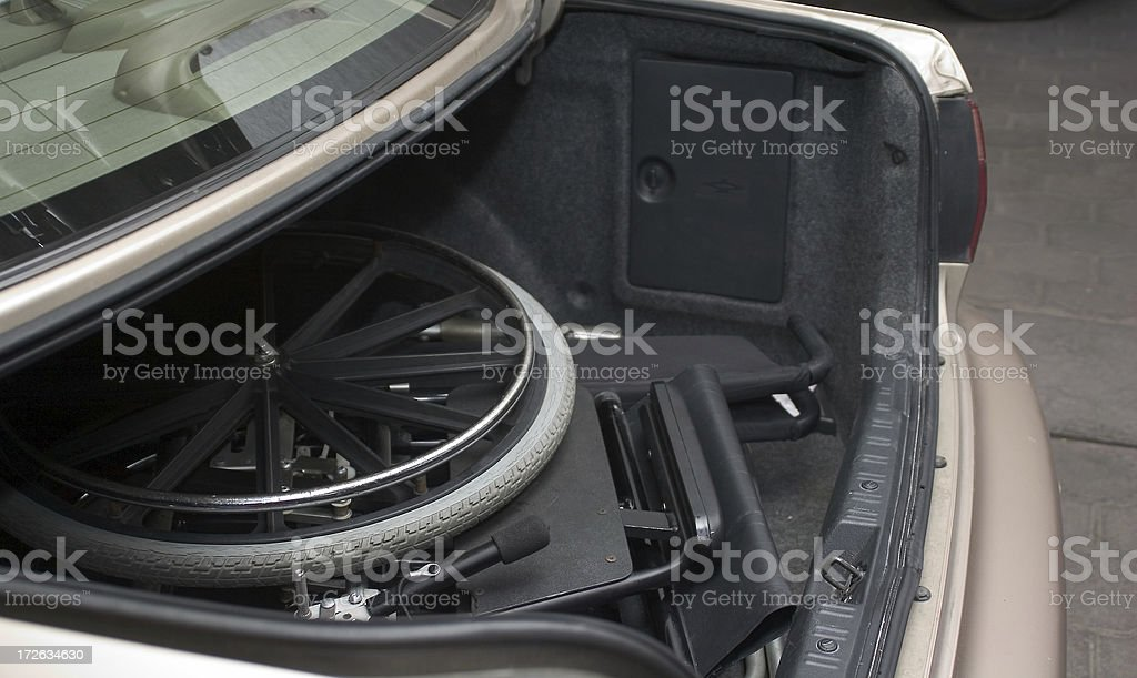 wheelchair in car trunk royalty-free stock photo