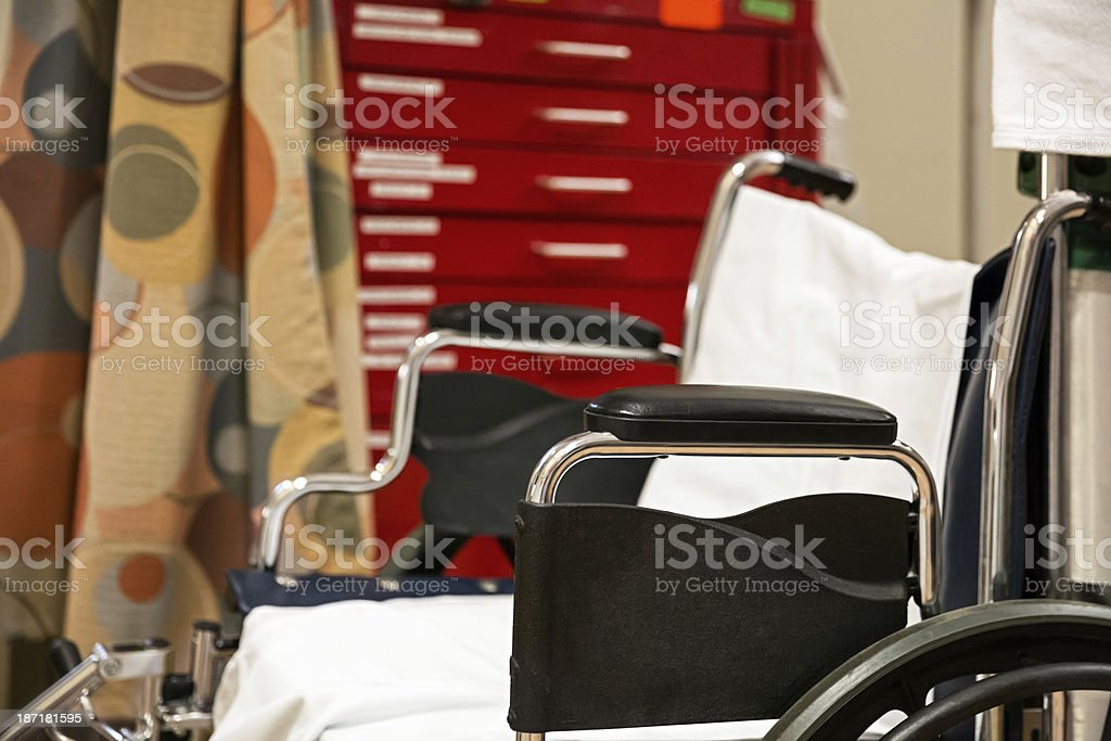 Wheelchair in hospital  rr royalty-free stock photo