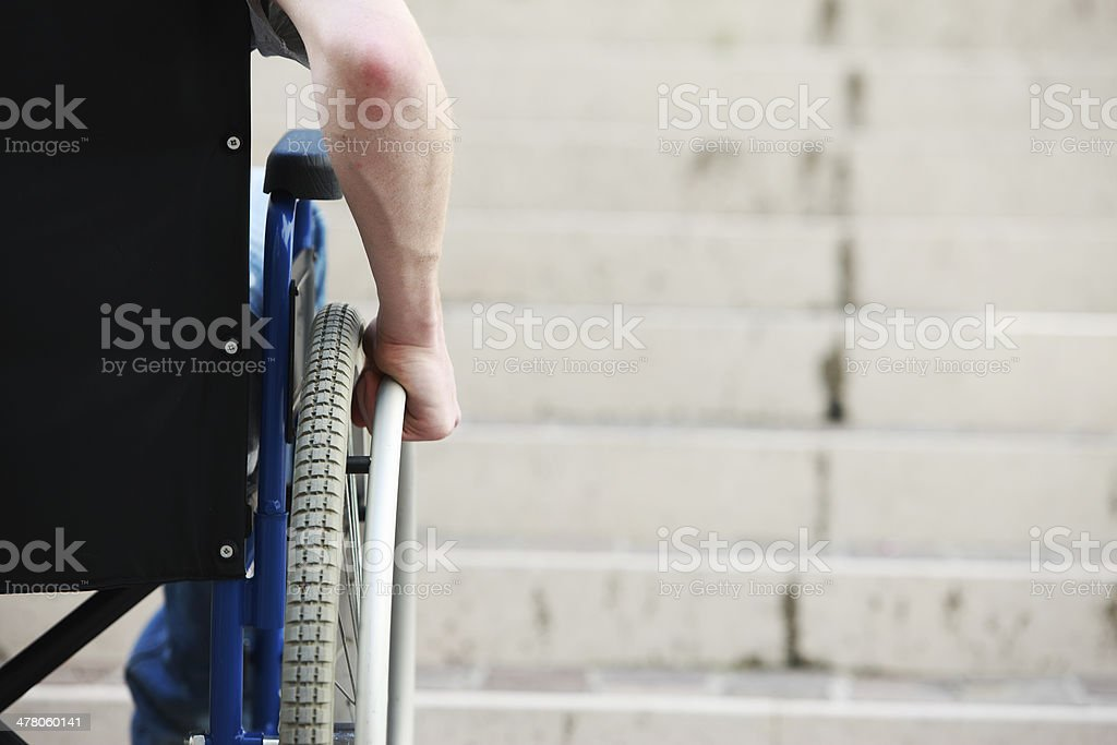 Wheelchair Inaccessable Stairs stock photo