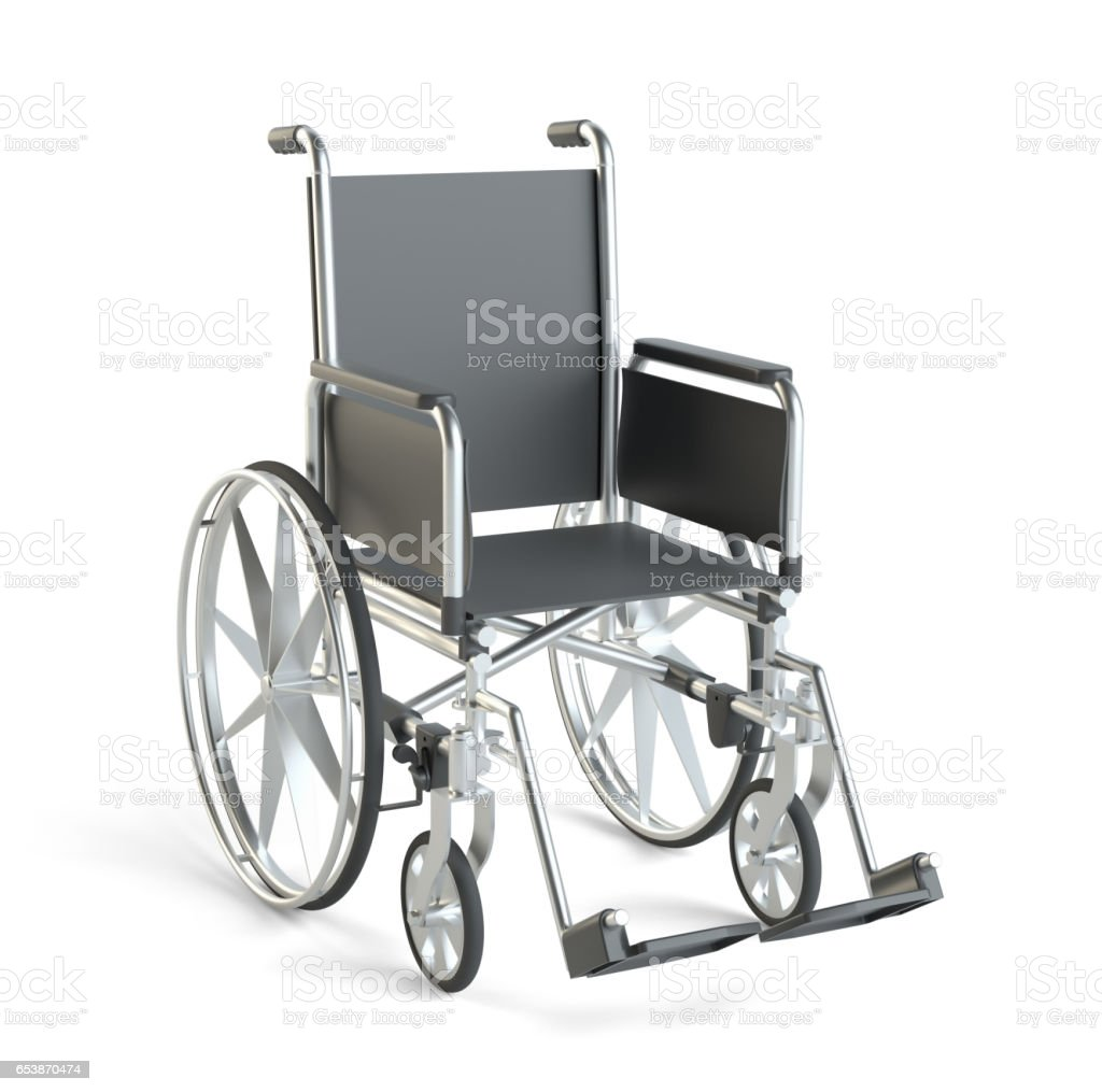 Wheelchair. Isolated on White Background stock photo