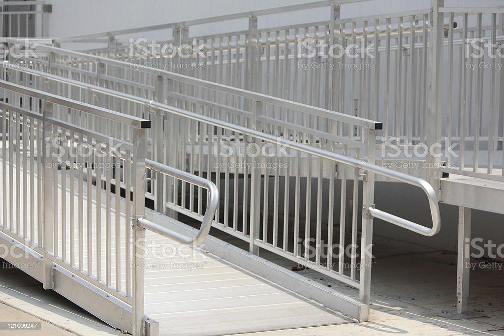 Wheelchair Metal Ramp stock photo