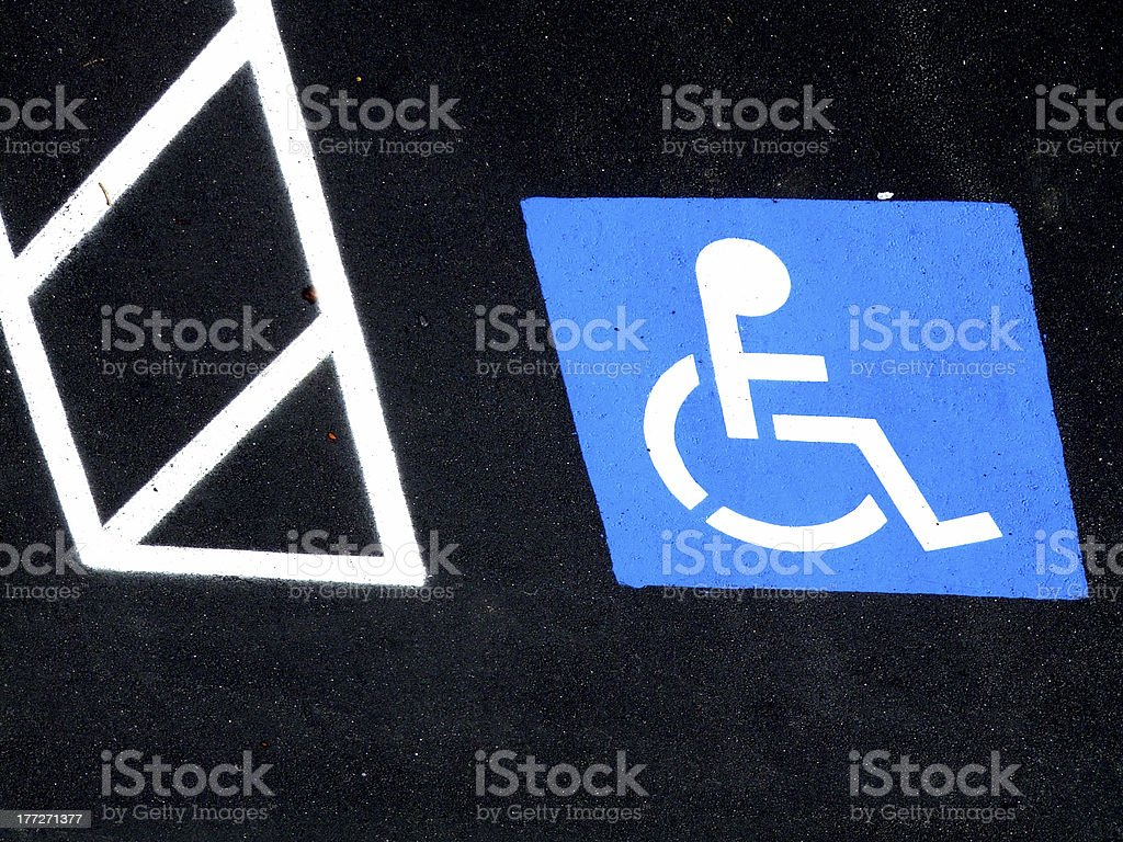 Wheelchair Only stock photo