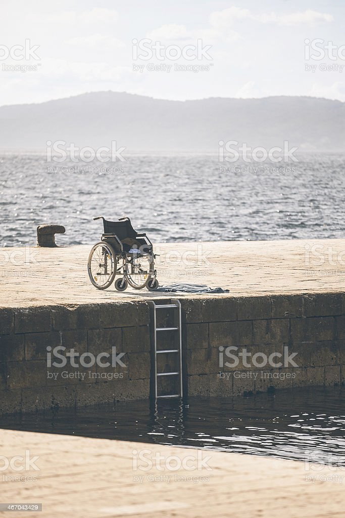 Wheelchair royalty-free stock photo