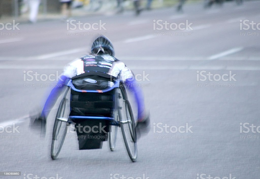 Wheelchair Racer Motion royalty-free stock photo