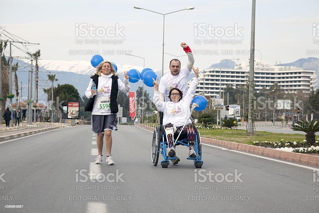 Wheelchair racer stock photo