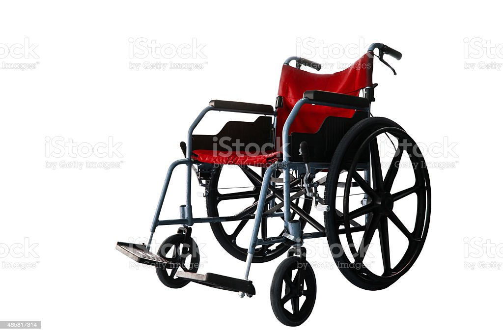 Wheelchair service isolate background stock photo