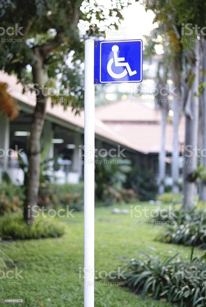 Wheelchair sign in hospital royalty-free stock photo