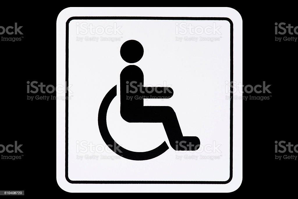 Wheelchair Sign stock photo