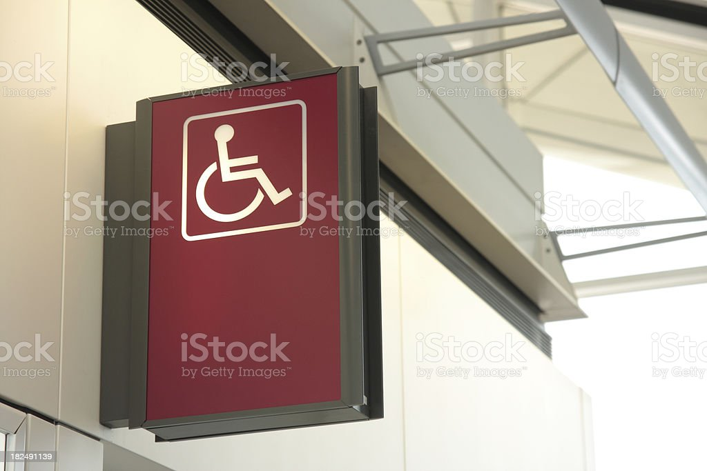 Wheelchair Signage stock photo