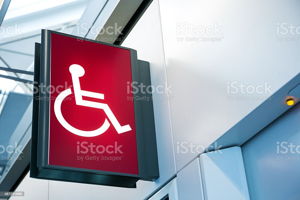 Wheelchair Signage stock photo