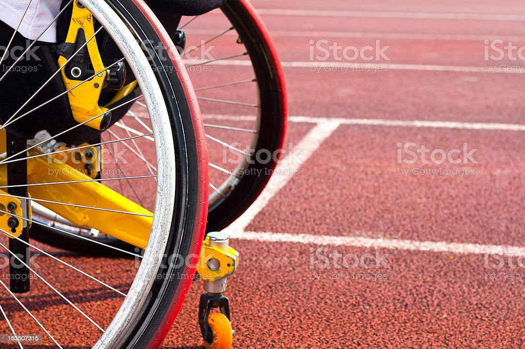 wheelchair sportsmen stock photo