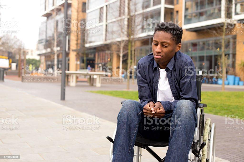 wheelchair stress royalty-free stock photo