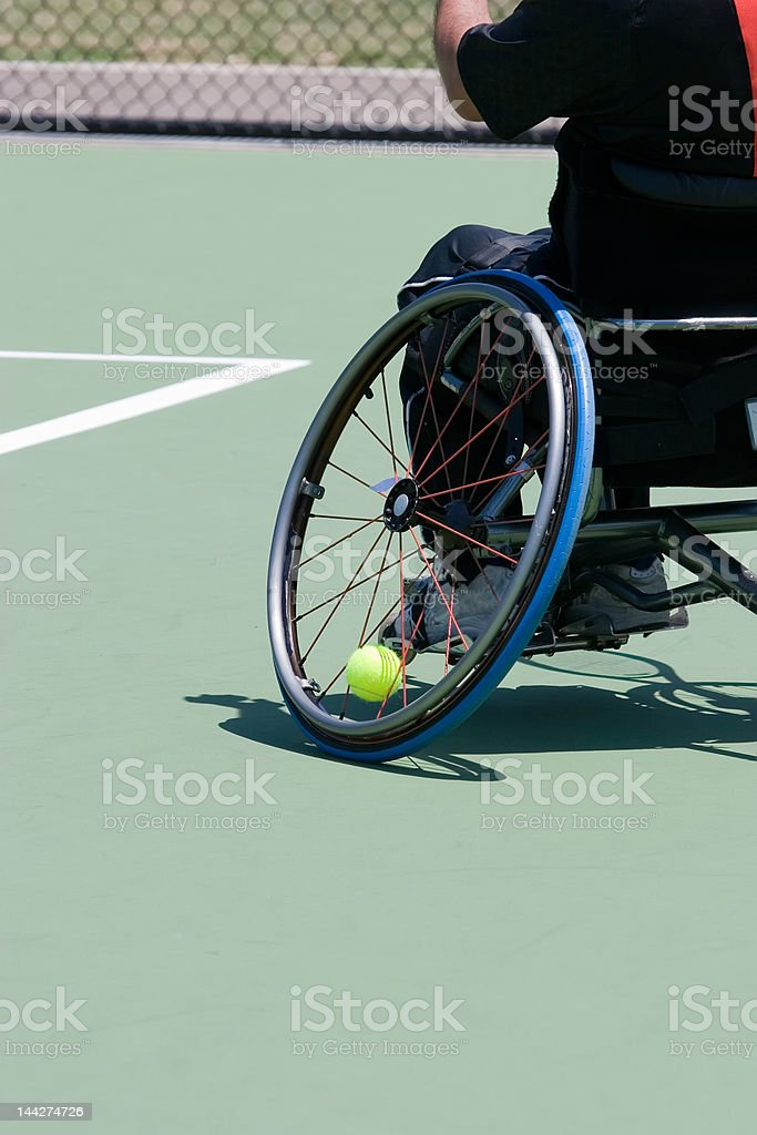 Wheelchair Tennis Player royalty-free stock photo