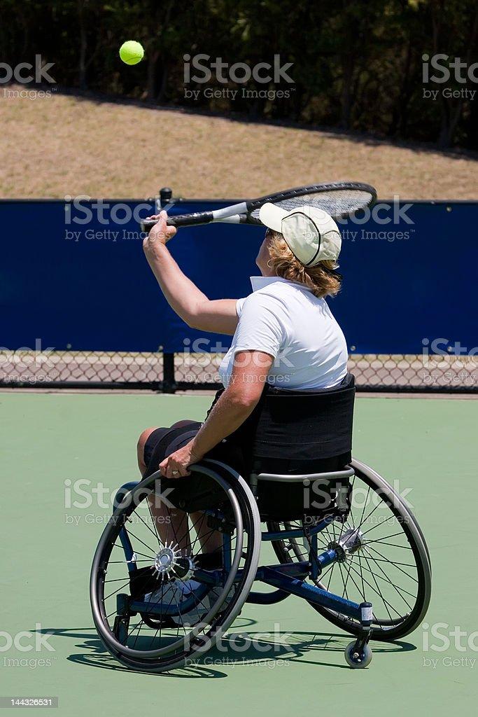 Wheelchair Tennis Player royalty-free stock photo