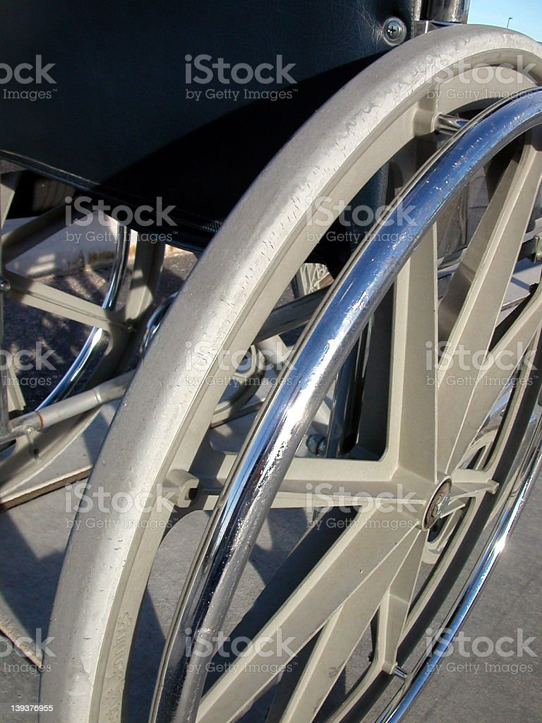 wheelchair wheel royalty-free stock photo
