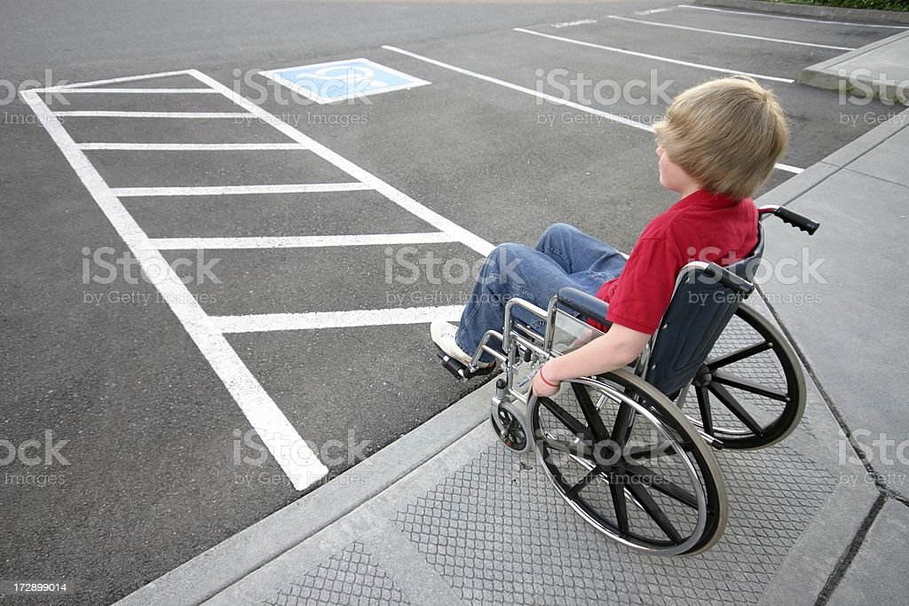 Wheelchair-Only Parking Space royalty-free stock photo