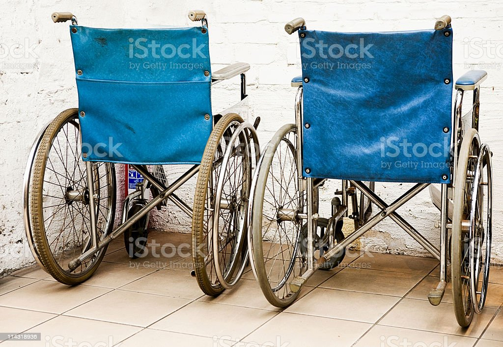 Wheelchairs royalty-free stock photo