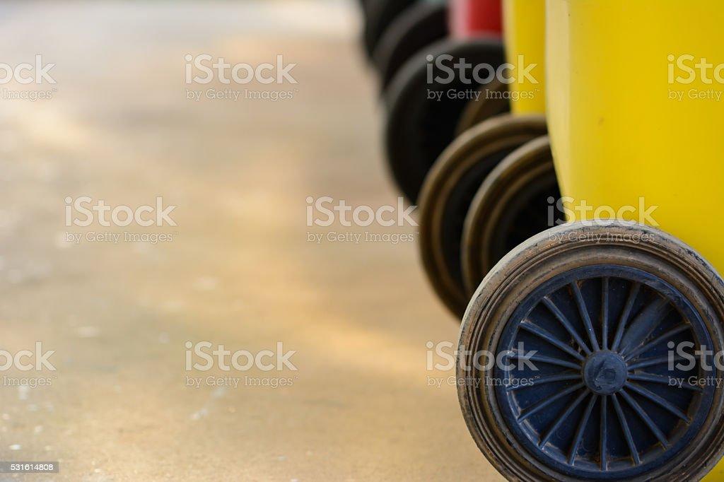 Wheeled bins stock photo