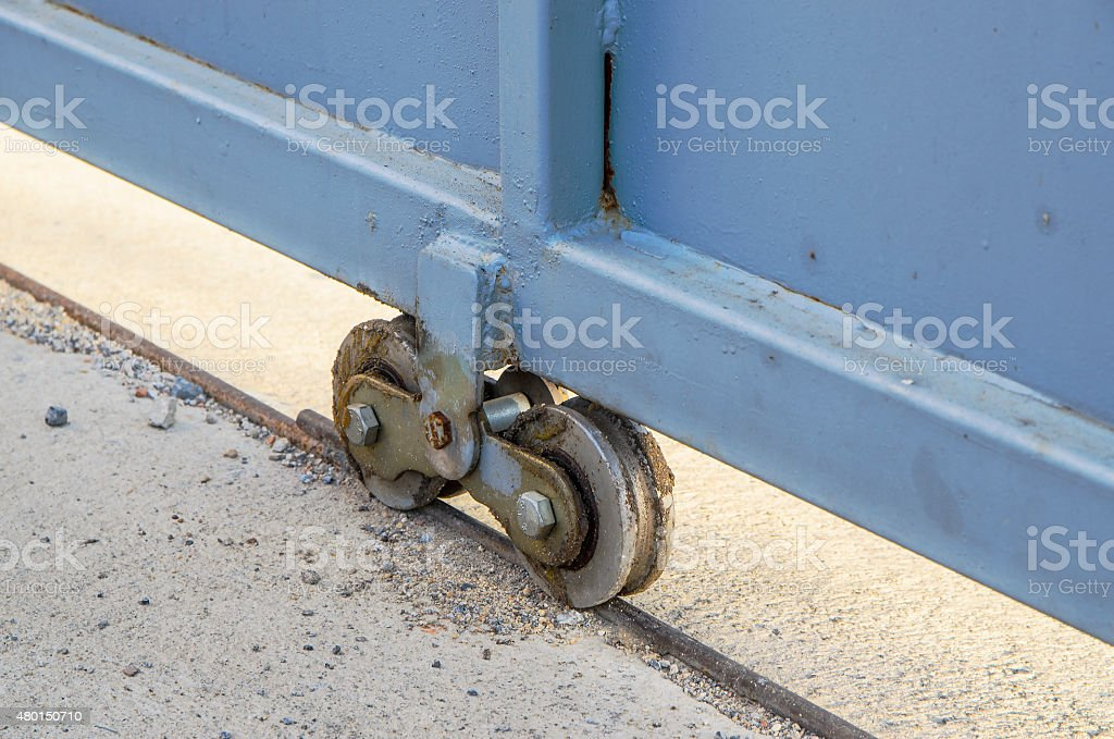 Wheeled for door stock photo