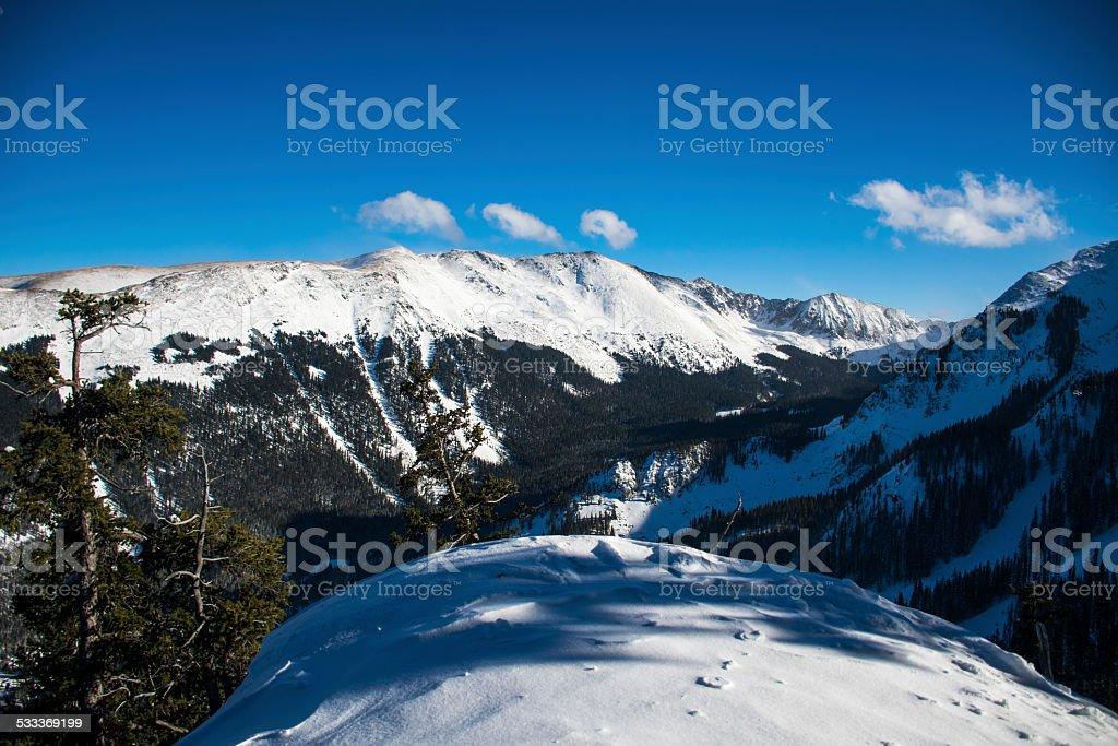 Wheeler Peak at Taos Ski Valley Highest Point New Mexico stock photo