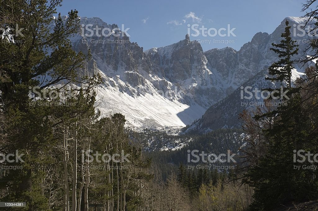 Wheeler Peak, Great Basin National Park, E Nevada, US stock photo