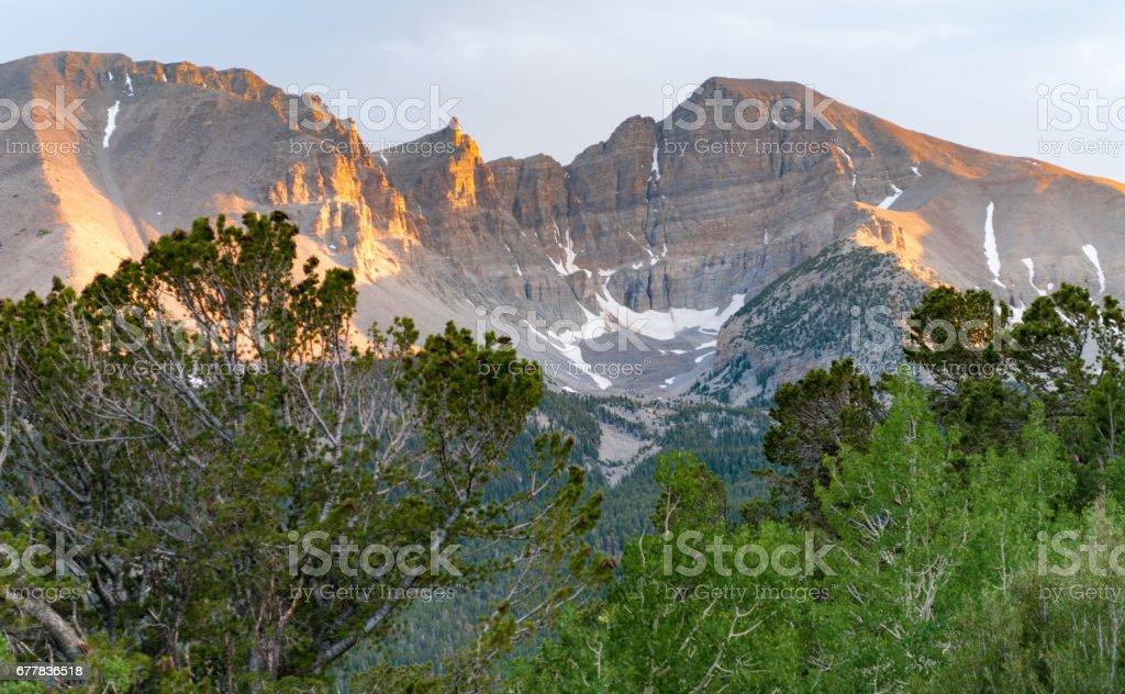 Wheeler Peak summit, Great Basin National Park, Nevada stock photo
