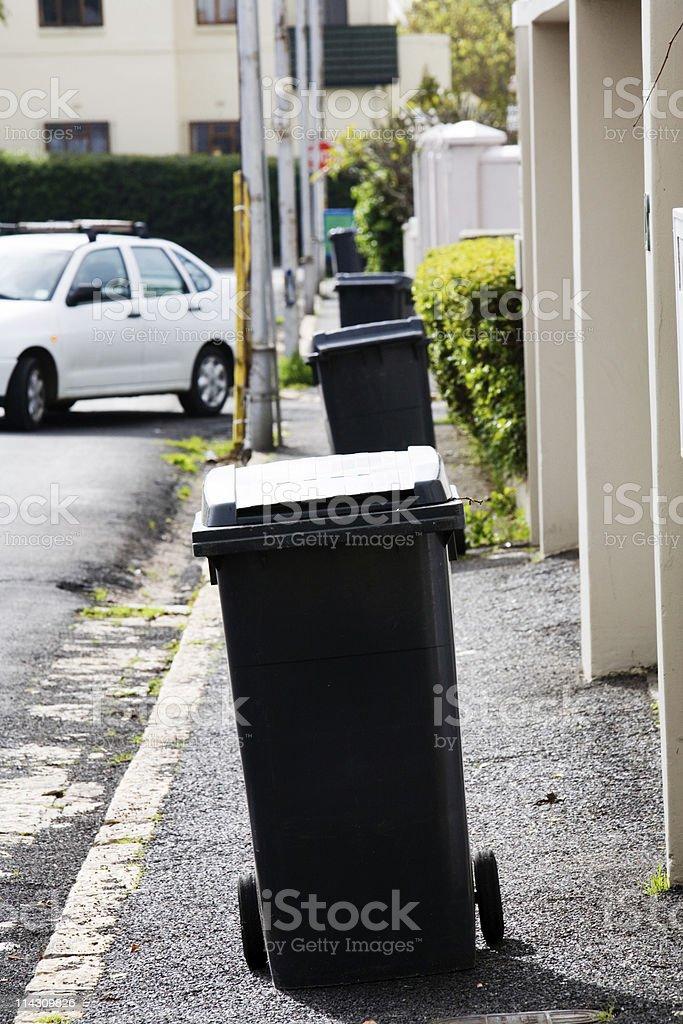Wheelie bins royalty-free stock photo