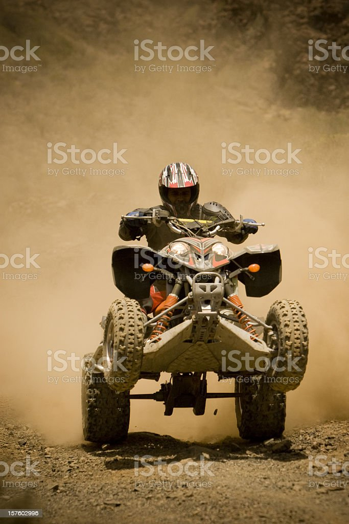 ATV Wheelie royalty-free stock photo