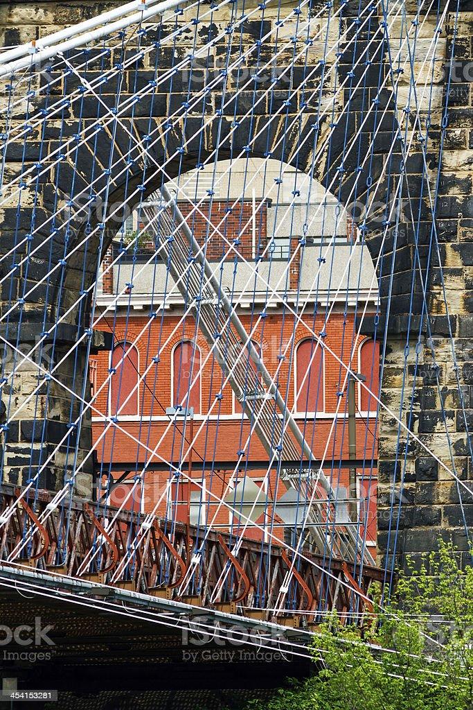 Wheeling Isola Torre del Ponte sospeso foto stock royalty-free