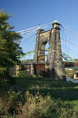 Wheeling Suspension Bridge, West Virginia.