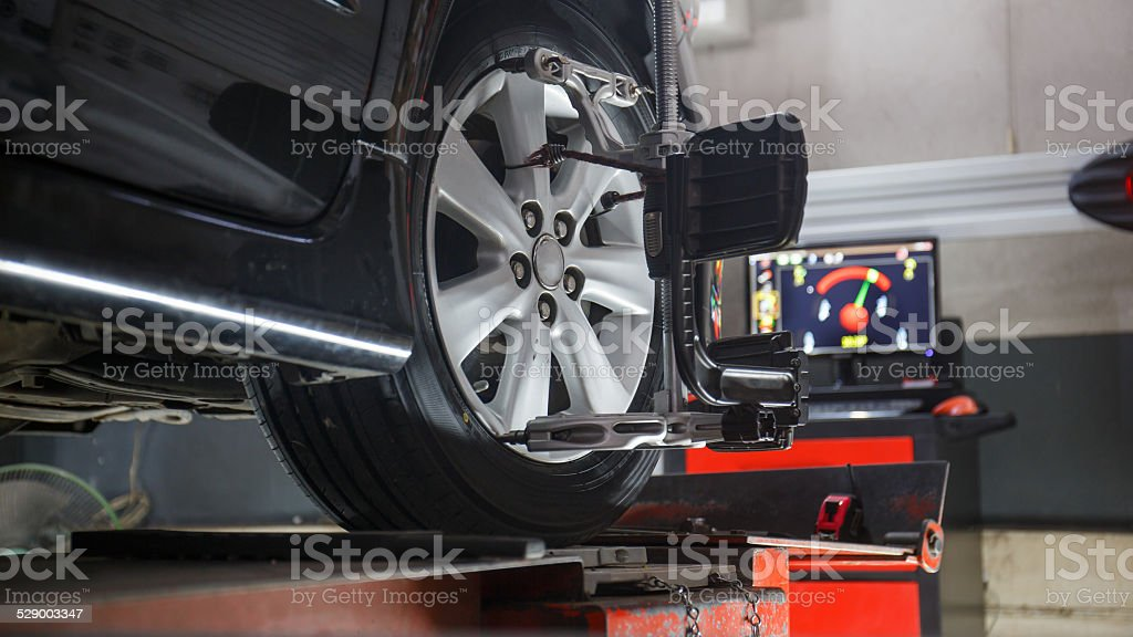 wheels alignment camber stock photo