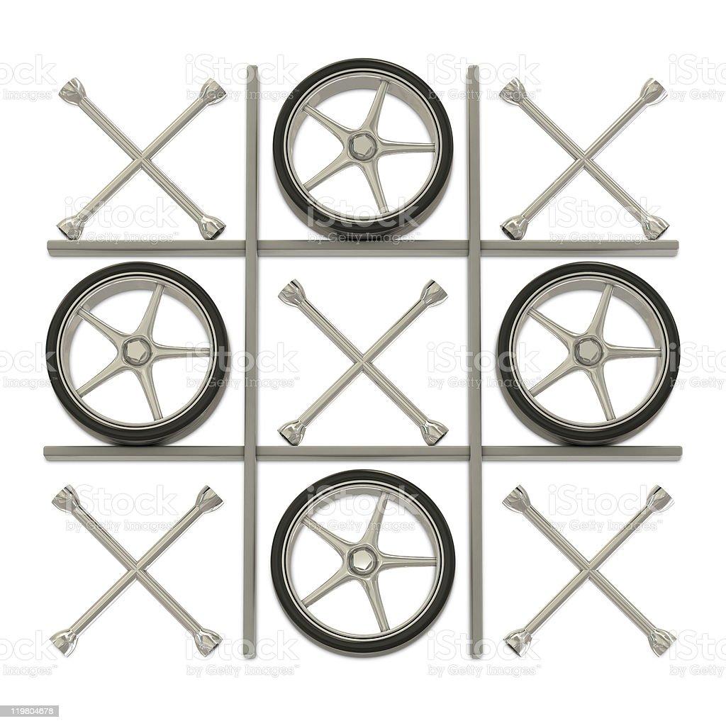 Wheels and keys stock photo