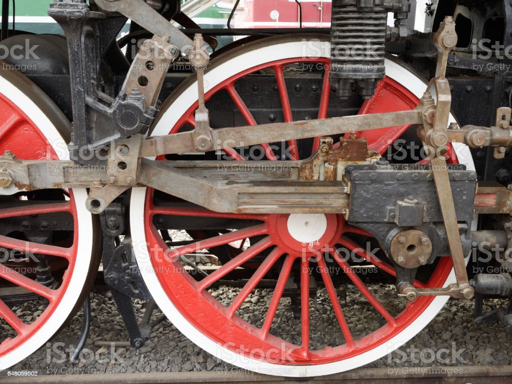 wheels as a unit of the locomotive. stock photo