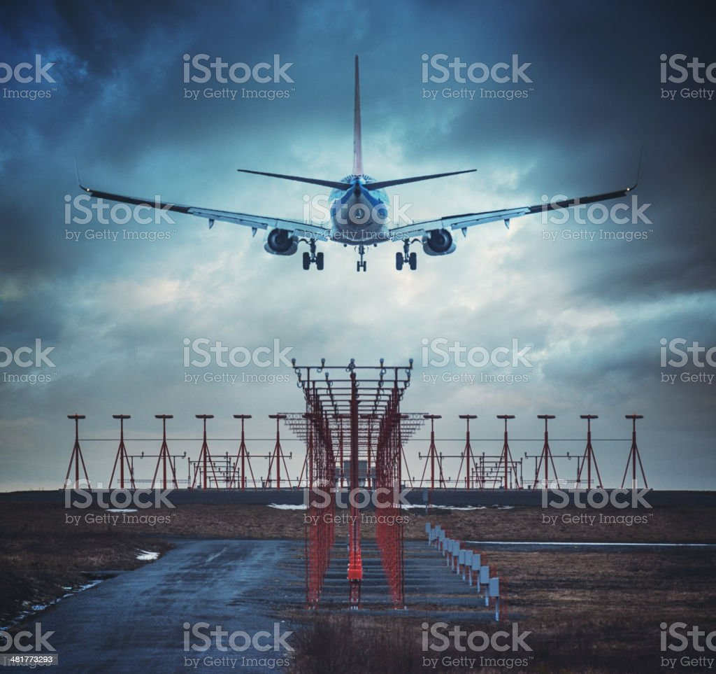 Wheels Down stock photo
