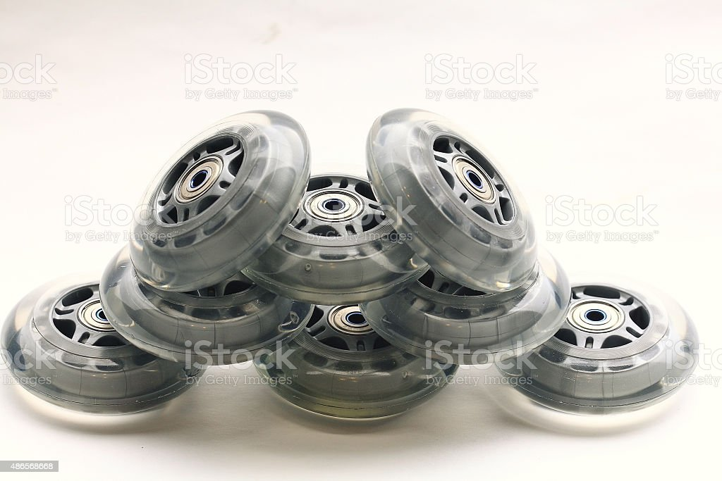 wheels for roller sports stock photo