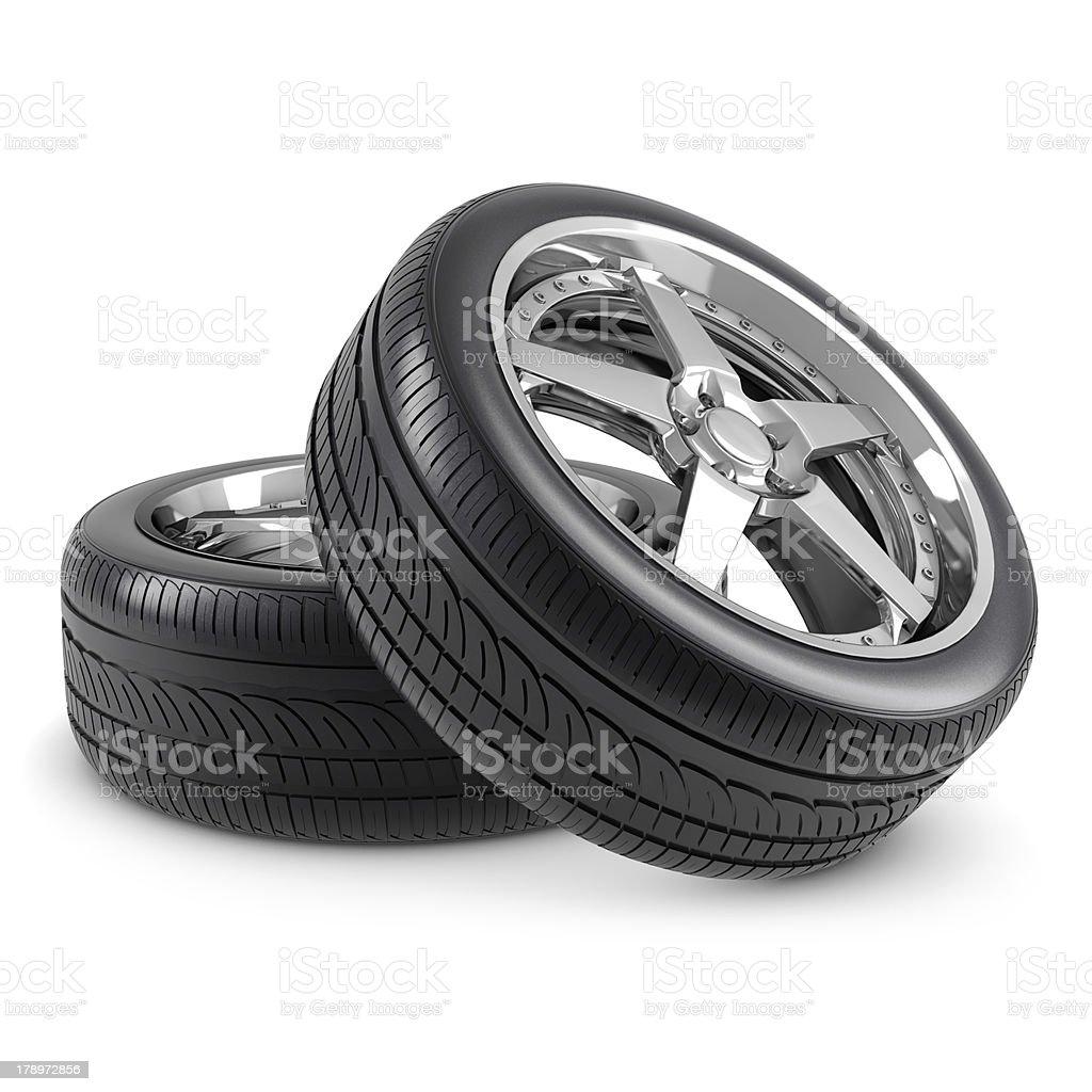 Wheels isolated stock photo