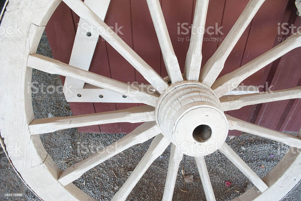 wheels of a cart stock photo