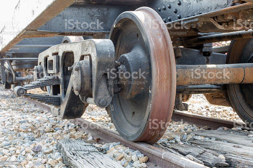 wheels of a train stock photo