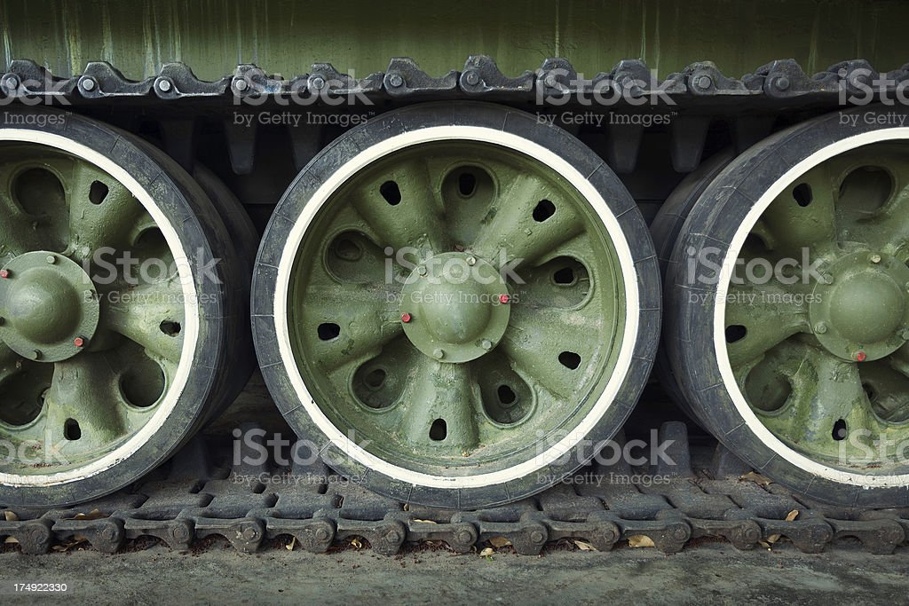 Wheels on the tank royalty-free stock photo