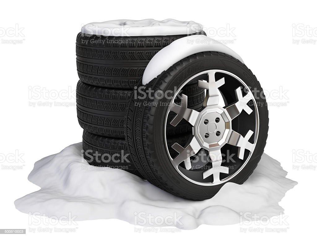Wheels set stock photo