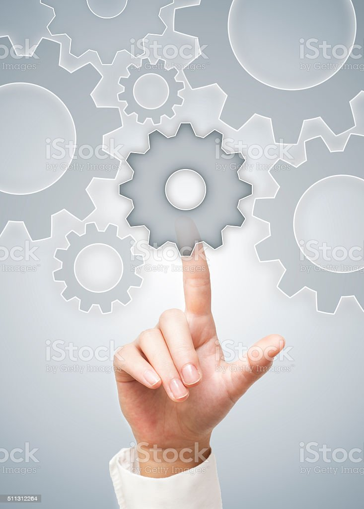 Wheels / Touch screen concept (Click for more) stock photo
