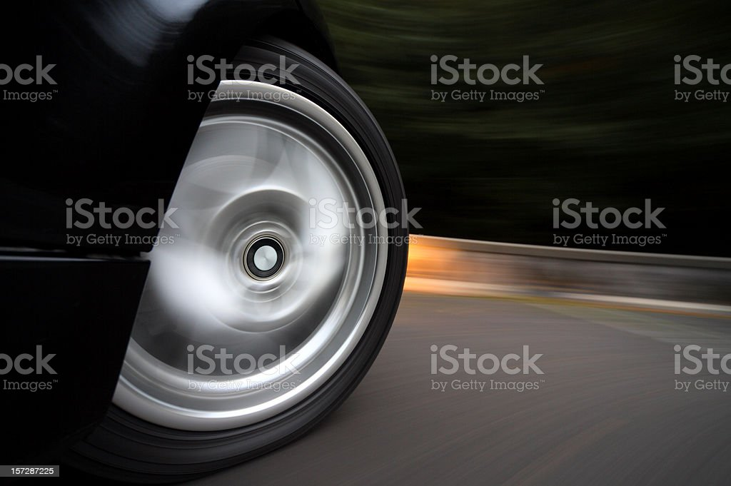 Wheelspin stock photo